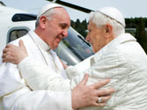 Two popes meet for lunch for first time in 600 years