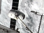 Private Earth-to-orbit delivery service meets International Space Station