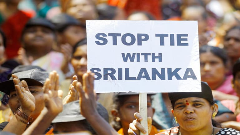 Protest over Lankan Tamils issue