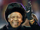 Nelson Mandela makes rare appearance on television