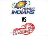 Delhi Daredevils crumble against mighty Mumbai Indians in IPL 6 tie
