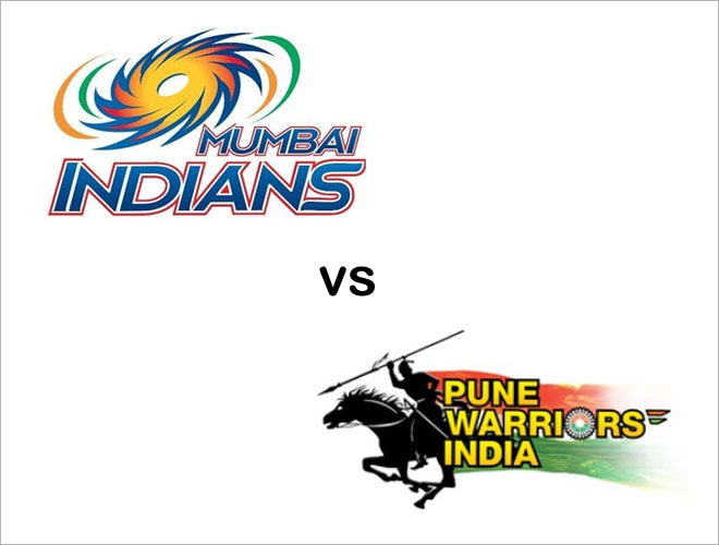 From left: Mumbai Indians and Pune Warriors India logo