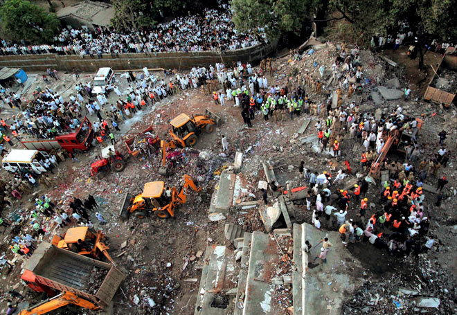 Unauthorised building in Thane was collapsed last week