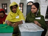 Polling day in Pakistan