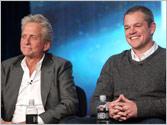 Michael Douglas and Matt Damon get intimate