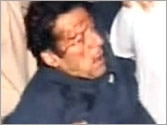 Imran Khan suffers serious head injuries during an onstage accident while campaigning in Lahore