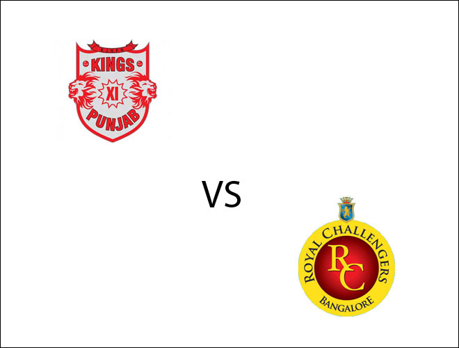 From left: KXIP and RCB logo