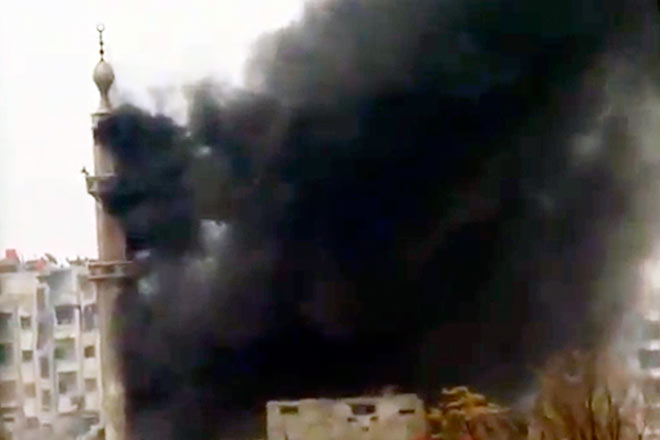 Bomb attack in one of the Syrian towns