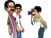 Uddhav with son in a magazine cover!