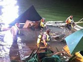 US sports bar deck collapses during NBA finals, 100 into water