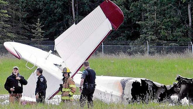 Aircraft crash site in Alaska. Photo: AP.