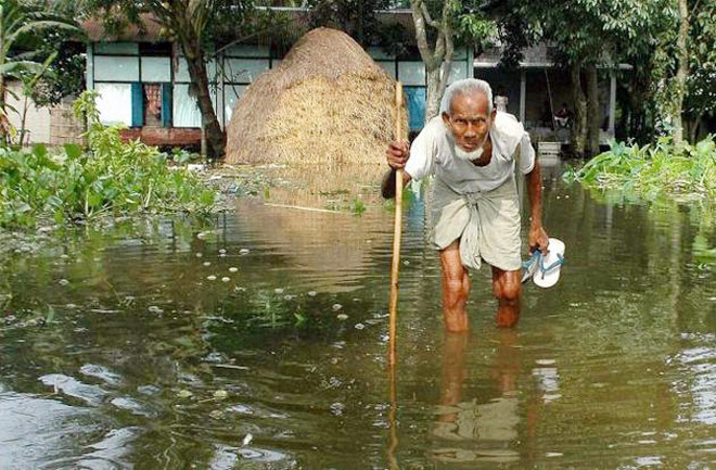 Assam floods partially drown Kaziranga, evacuation alert sounded