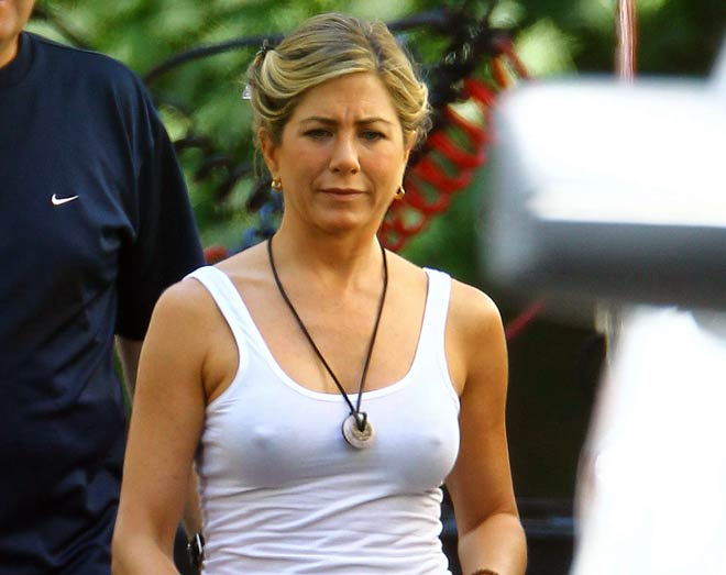 image Jennifer aniston with hard nipples