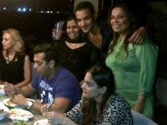 Spotted! Salman having a meal with Iulia Vantur