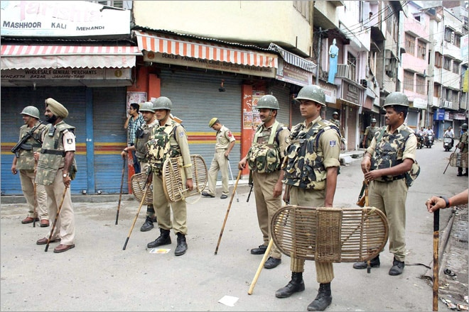 Image result for Curfew in Jammu as protests turn violent