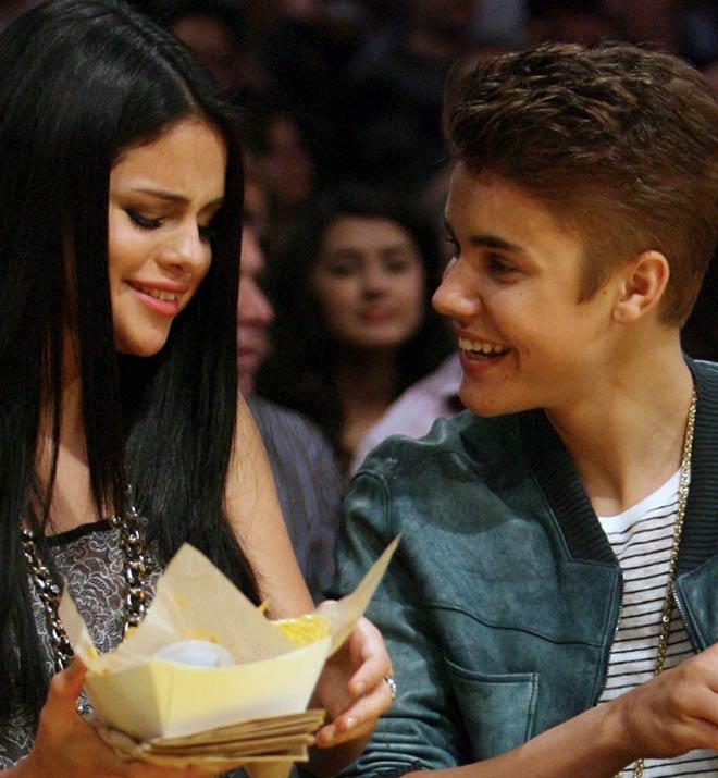 Justin Bieber with Selena