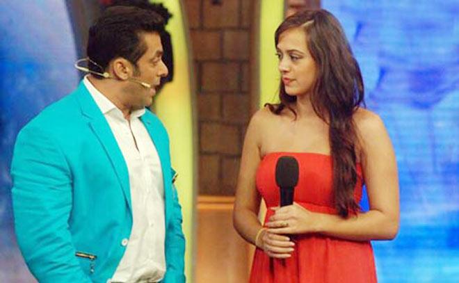 Hazel Keech with Salman Khan