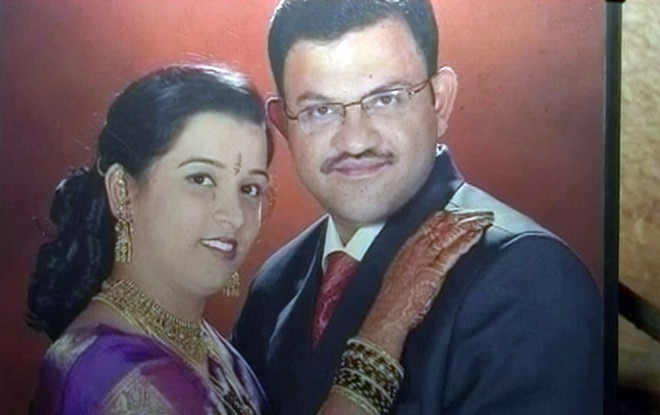 Madhusudhan with wife