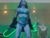 Hot as hell! Freida Pinto strips for Bruno Mars in a racy music video