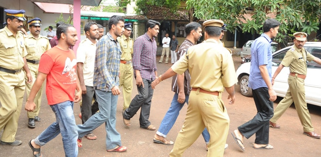 The arrested in Narath arms training case