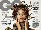 Rihanna turns Medusa, poses naked with snakes for magazine cover