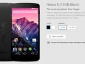 Nexus 5 sold out within hours of listing on Google India Play Store
