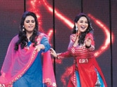 Madhuri Dixit promotes new film on rival show