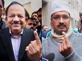 Short of simple majority in Delhi, BJP says pehle AAP
