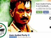 Aam Aadmi Party website a hit on social media