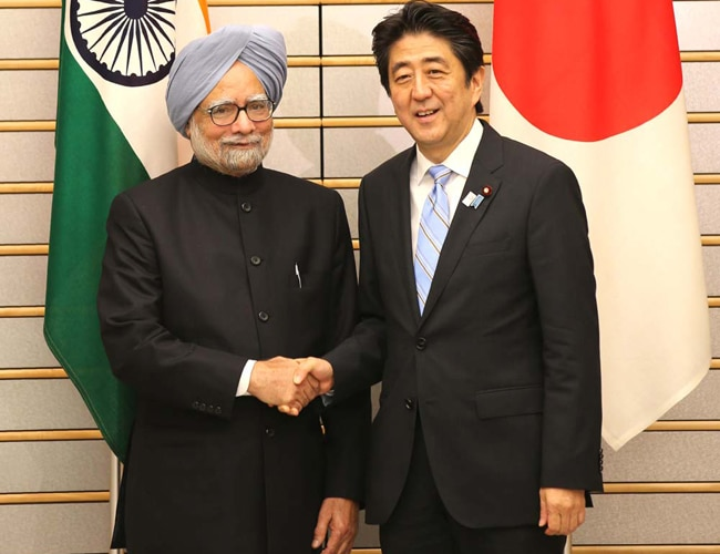 Manmohan Singh with his Japanese counterpart