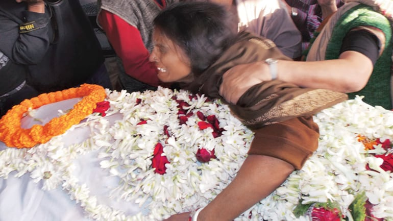 The mother of the rape victim mourns her death.