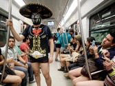 'No Pants Day' pranksters shock metro passengers. See the photos here