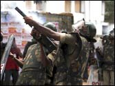 Telangana activists pull down Vijayawada MP from dais