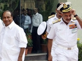 Choppy seas ahead: The chief sails away but the problems buffeting the Navy will not go away easily