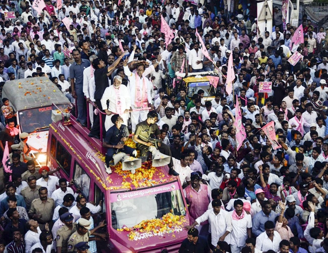 KCR with supporters