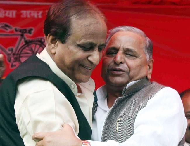 Mulayam Singh Yadav and Azam Khan