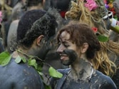 Mud madness: Brazilian town's dirty carnival party