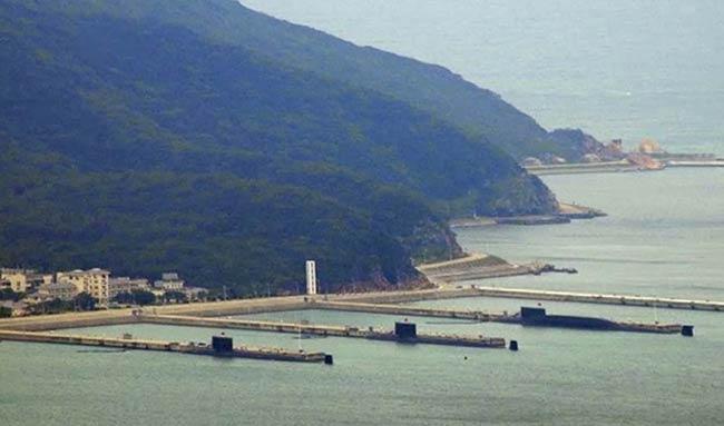 Shang-class SSNs at the PLA Navy base in Hainan Island