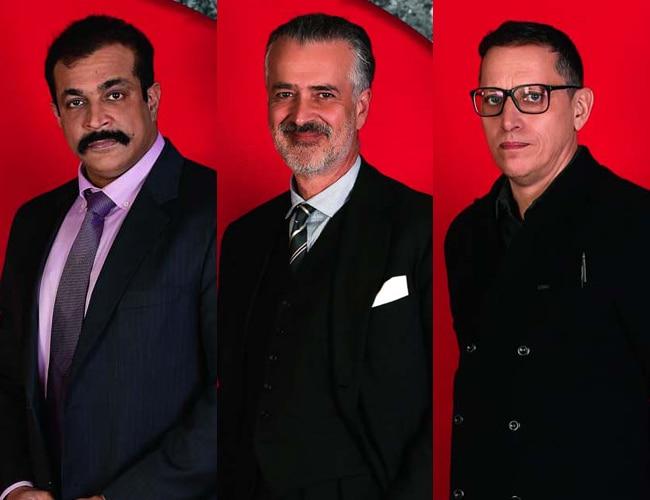 From Left: Himanshu Roy, Hooman Majd, Adrian Levy