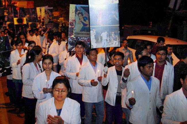 Doctors' strike in Allahabad