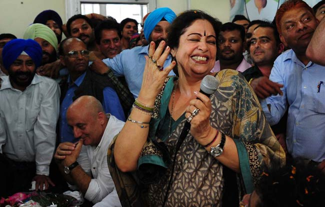 Kirron Kher campaign in Chandigarh