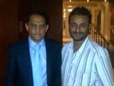 BJP releases photo of hawala accused Afroz Fatta with Md Azharuddin