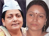 (From Left- Right) Putul Devi, Anu Shukla, Parveen Amanullah, Rabri Devi
