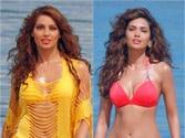 Bips, Esha Gupta, Tamanna sport bikinis in Humshakals
