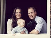 New picture of eight-month old Prince George with William and Kate