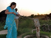 Hema Malini struggles to pump water in Mathura