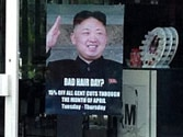 British hairdresser's use of Kim Jong-un poster for 'Bad Hair Day' infuriates North Korea