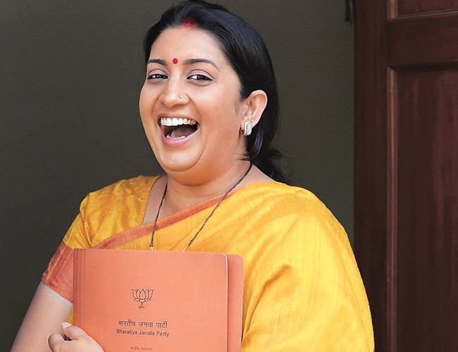 Image result for laughing smriti irani