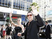 Brad Pitt hit in the face at Maleficent premiere