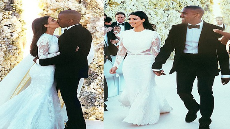 Kim Kanye S Wedding Pictures Finally Revealed Movies News